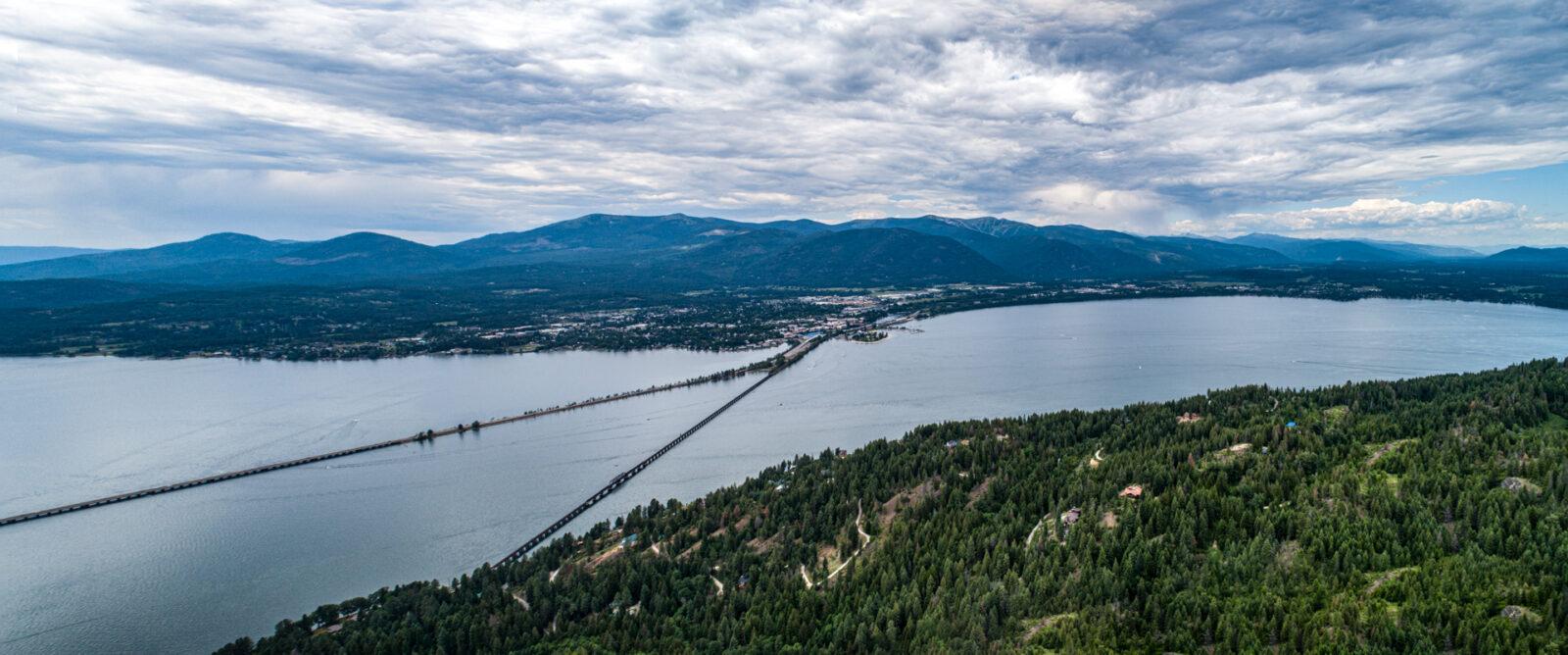 Sandpoint Bridges Aerial