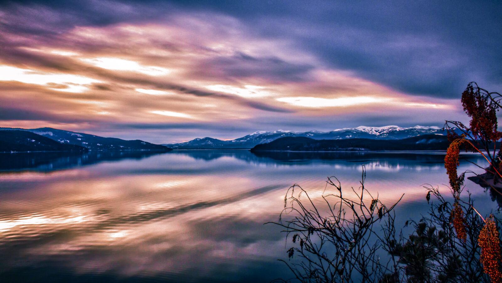 Schweitzer Mountain Sunset - HDR